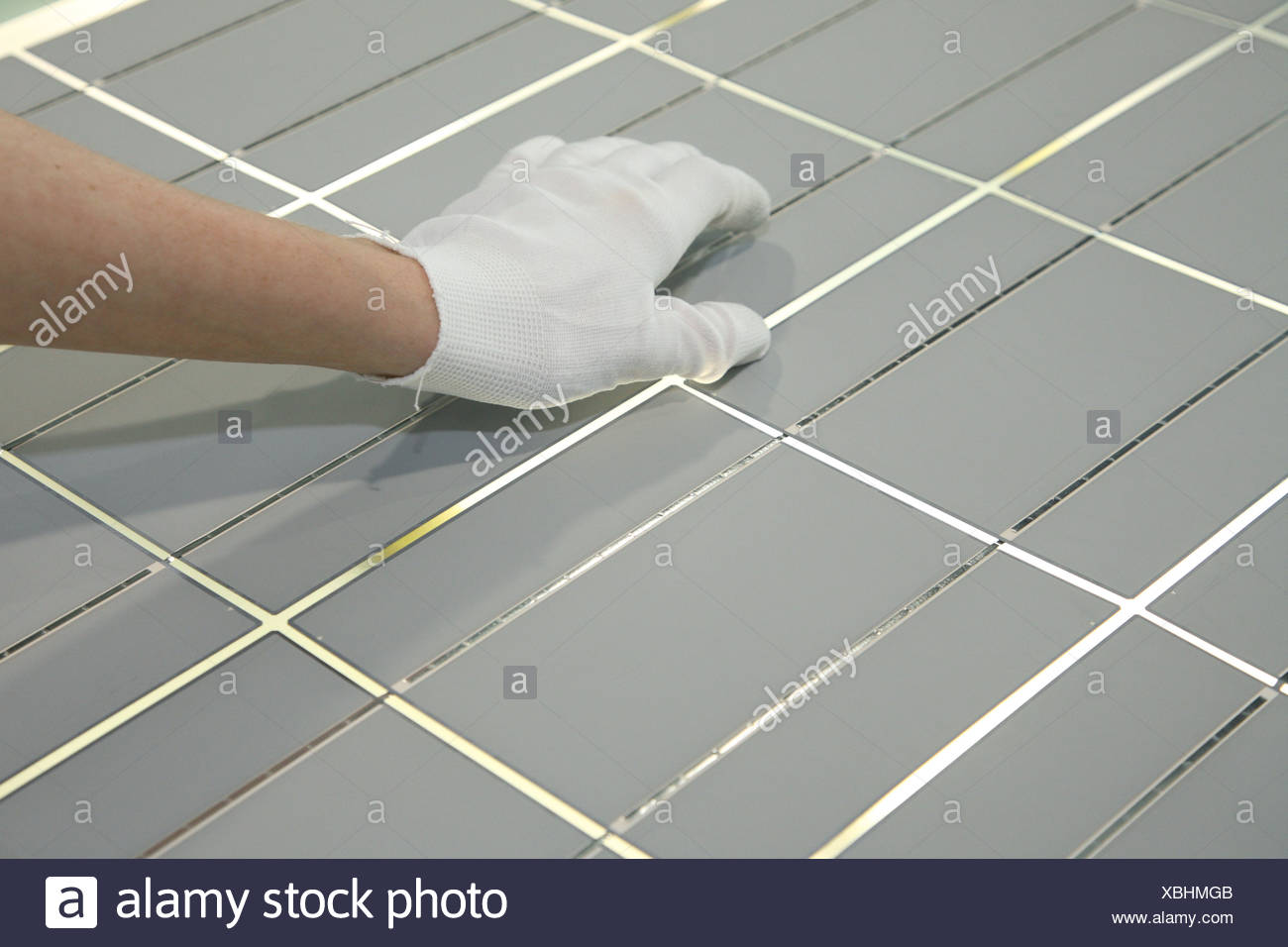 Berlin, Deutschland, die Solarzellen Sonnenenergie Firma Solon SE Stockbild
