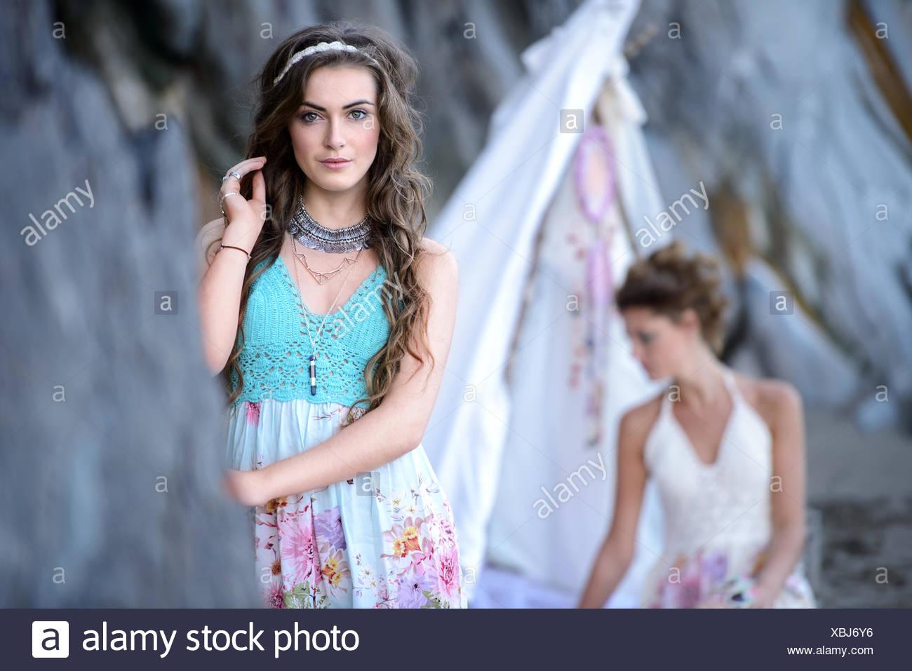Porträt der jungen Frau Stockbild