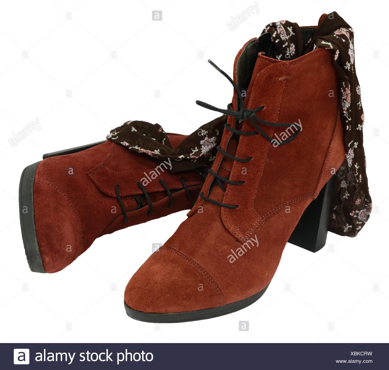 feinste Auswahl erstaunlicher Preis Neuestes Design Weibliche Wildleder Stiefel mit Strumpfhosen isoliert auf ...