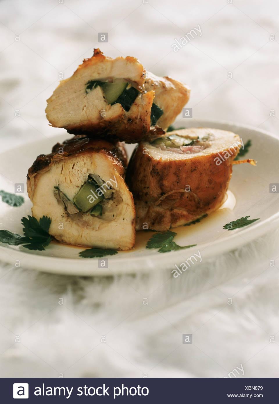 Rolled Chicken Stockfotos & Rolled Chicken Bilder - Alamy