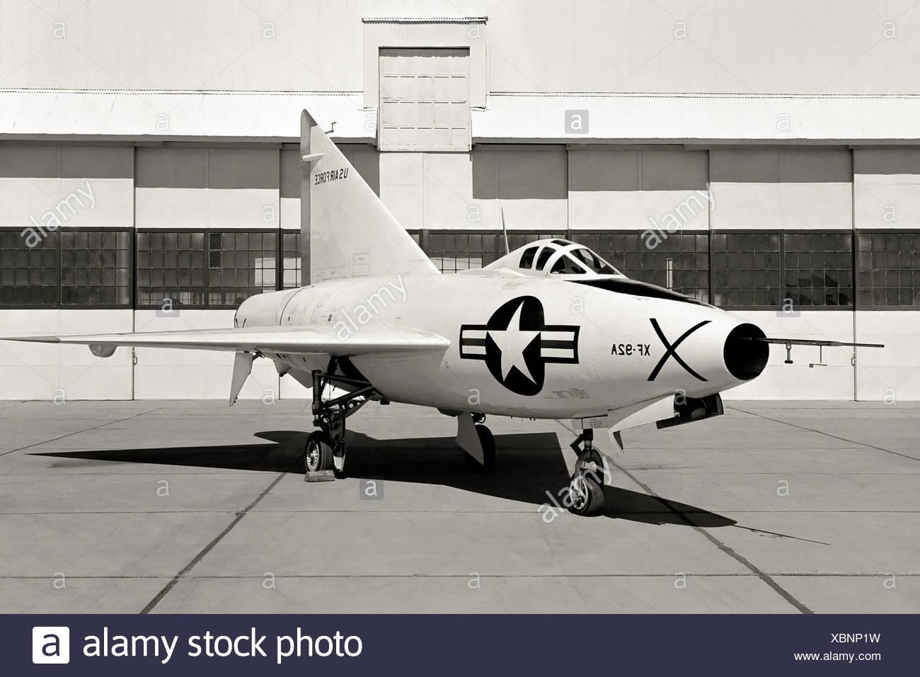 XF-92A Dart und Aufhänger Stockbild
