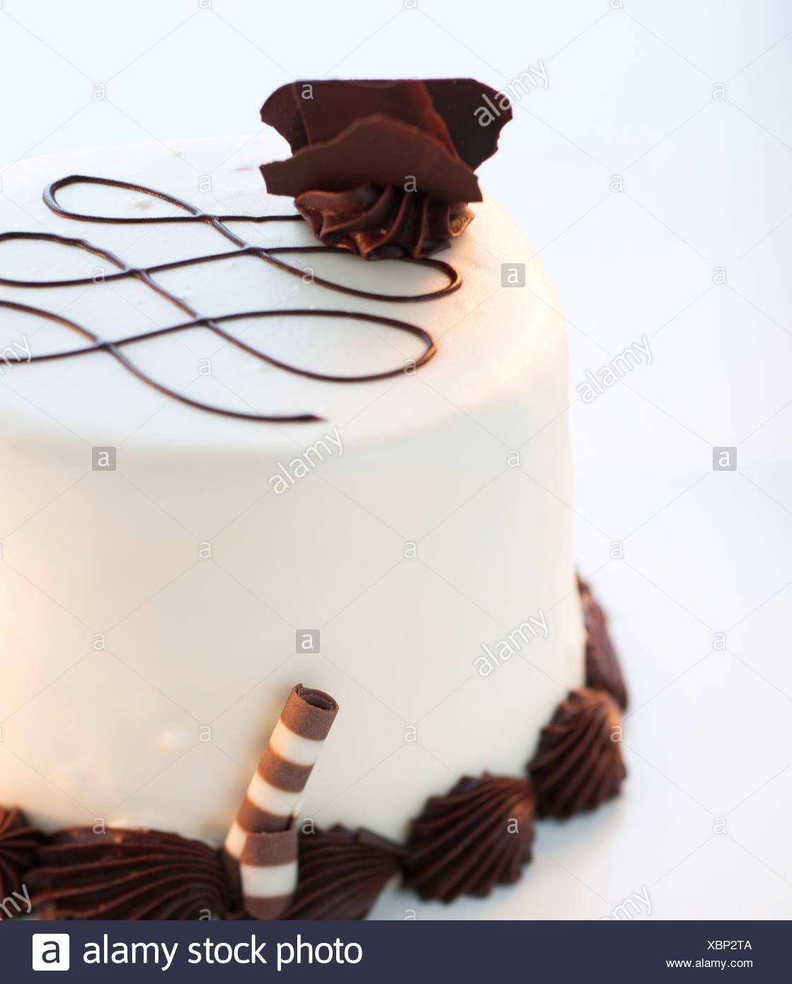 Eine Schoko Vanille Torte Stockfoto Bild 282612298 Alamy