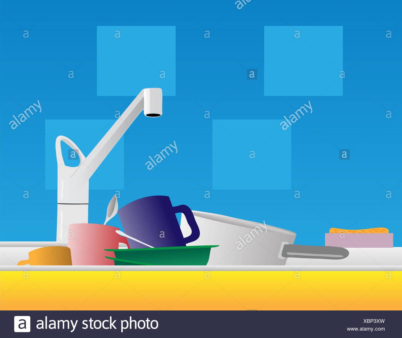 Kitchen Unit With Sink Stockfotos & Kitchen Unit With Sink Bilder ...