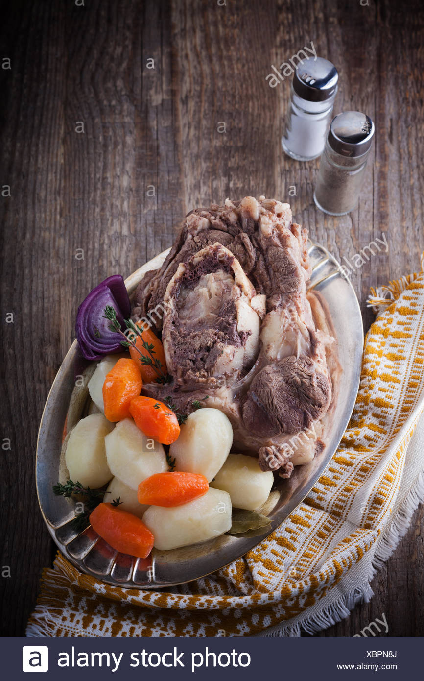 Pot Au Feu Französisches Rindfleisch Eintopf Stockfoto Bild