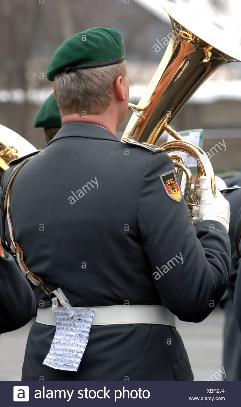 Versprechen mit der Bundeswehr, Berlin Stockbild