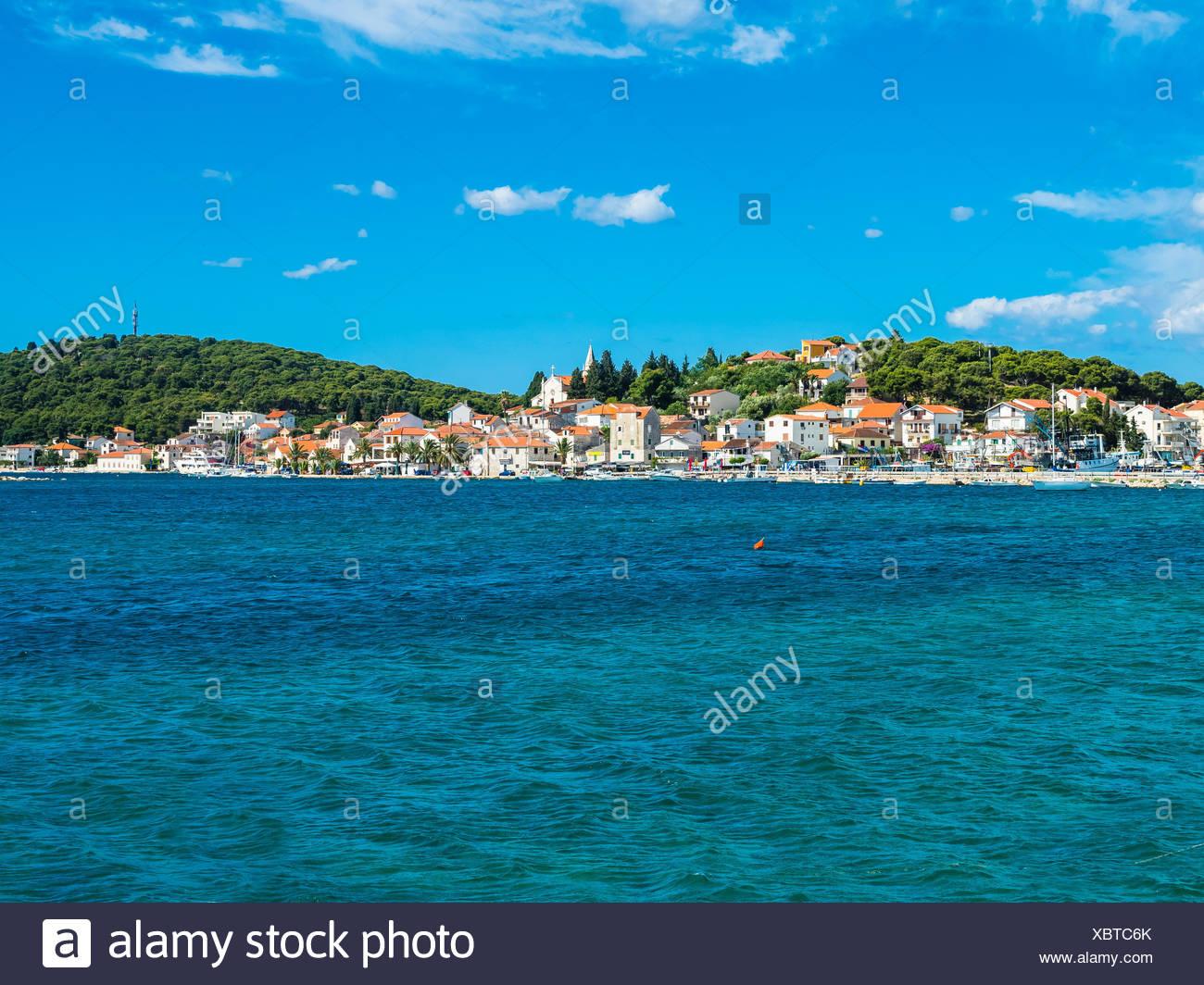 Fernsehreihe, Dalmatien, Split, Adriatisches Meer, Uferpromenade Split, Stockbild