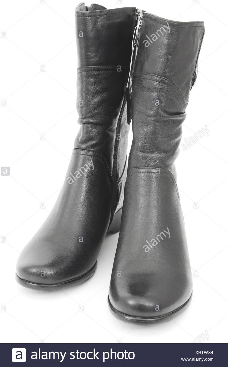 Schwarz Glänzende Stiefel Stockfotos & Schwarz Glänzende