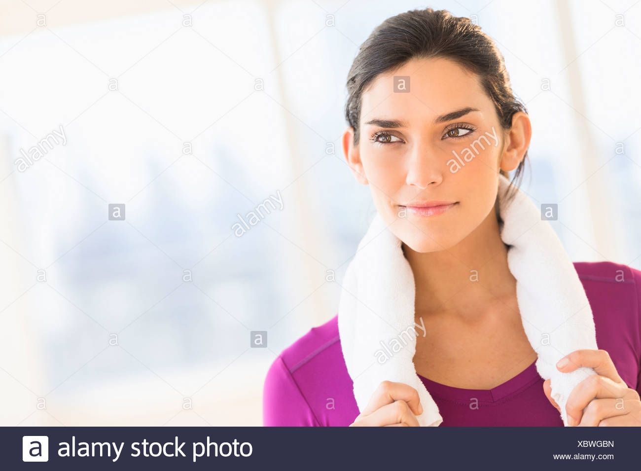 Junge Frau, die Ausübung Stockbild