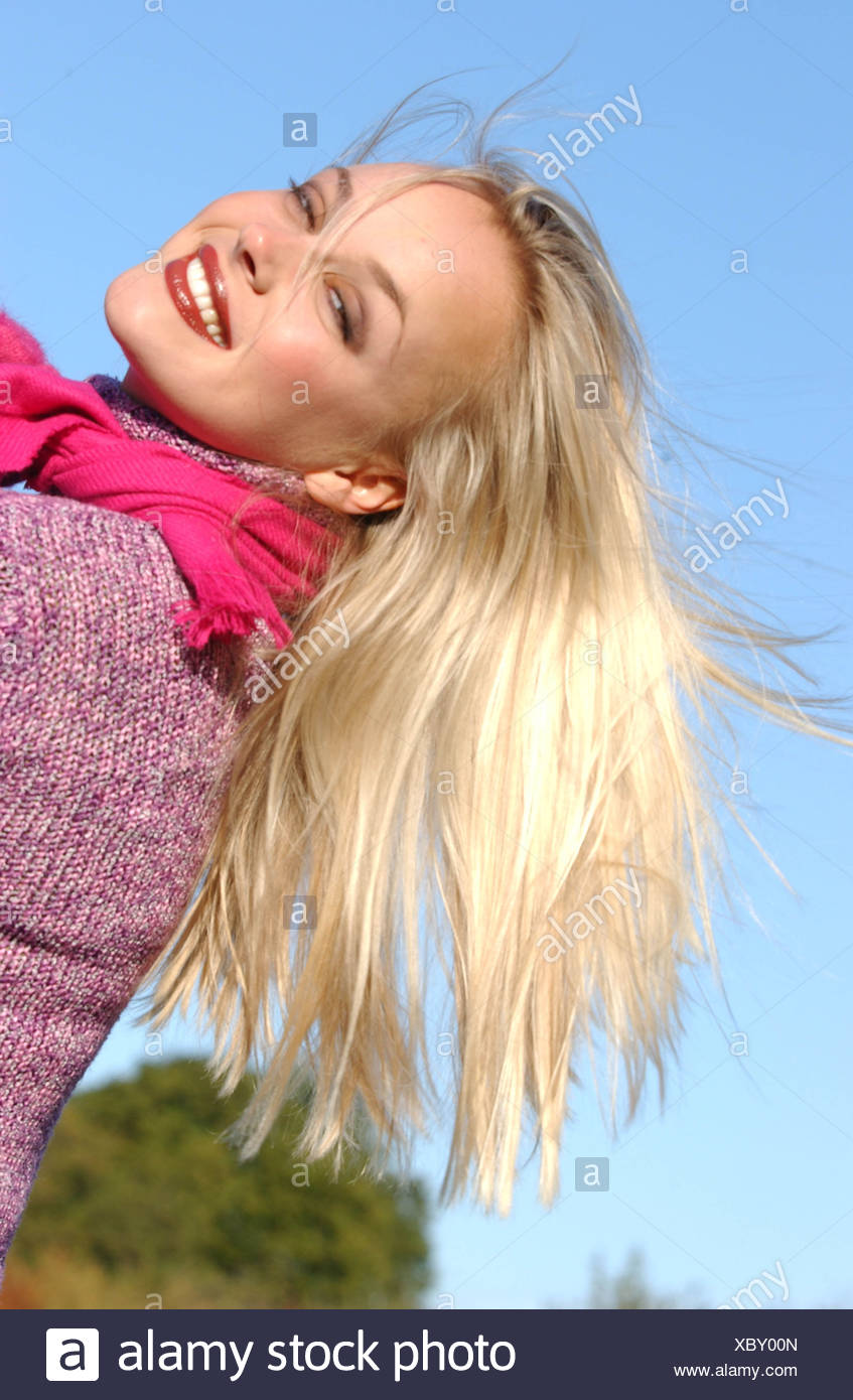 Braun und blonde haare