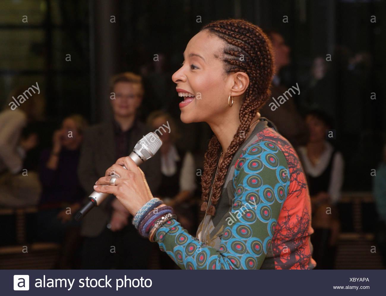 Soul und jazz-Sängerin Jocelyn, Berlin, Deutschland, Europa Stockbild
