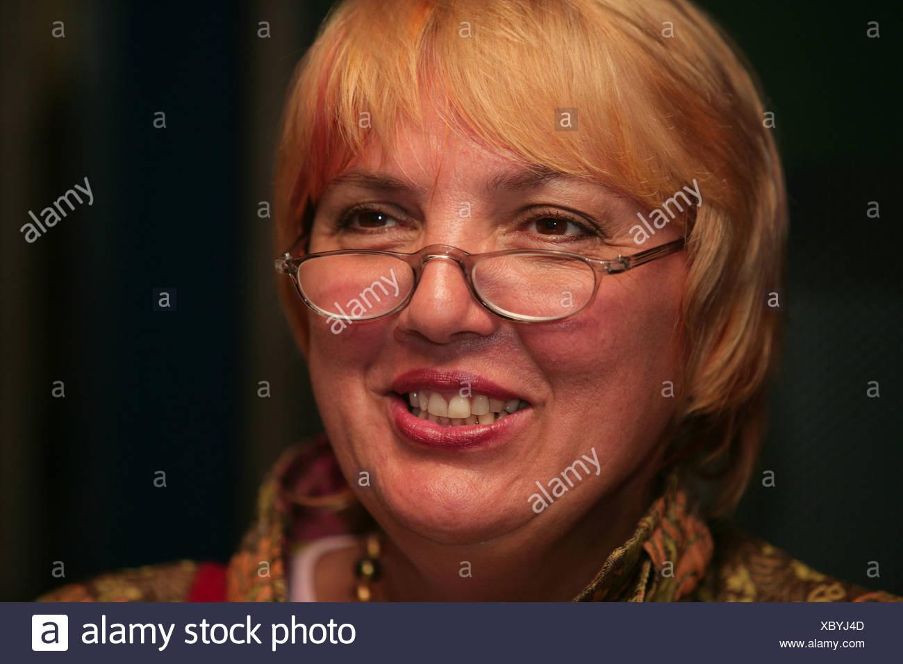 Claudia Roth-Vorsitzende der grünen Partei in Deutschland Stockbild