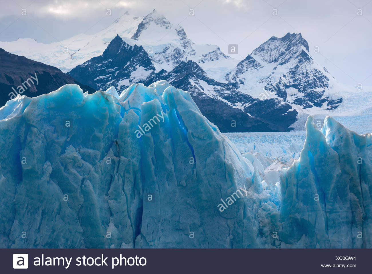 Perito Moreno Gletscher, Argentinien, Patagonien Stockfoto