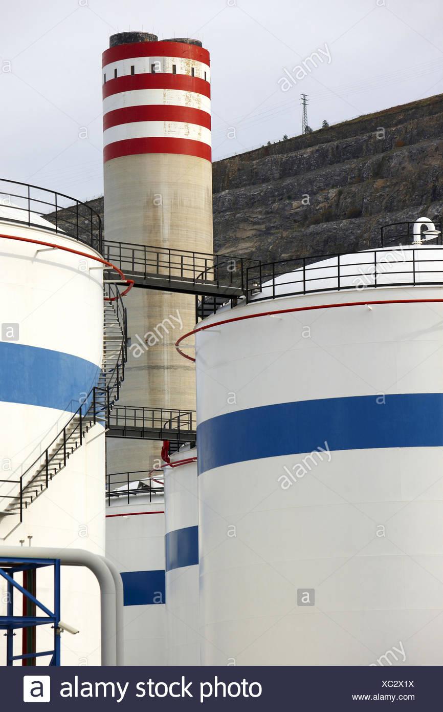 Bahia-Bizkaia GuD-Kraftwerk (GuD-Anlage). Hafen von Bilbao, Vizcaya, Baskisches Land, Spanien Stockfoto