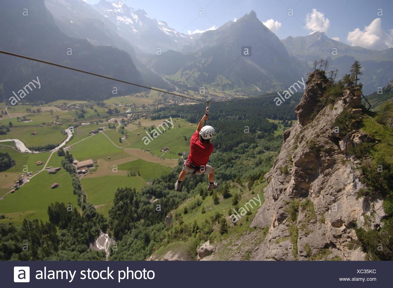Klettersteig Allmenalp : Klettersteig allmenalp stockfoto bild alamy