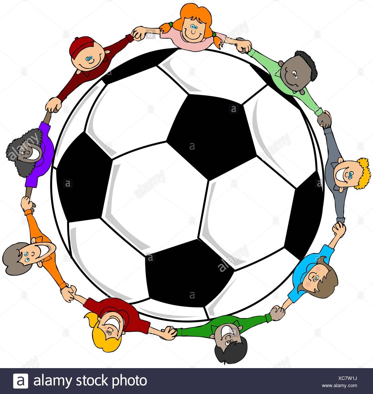 Cartoon Soccer Girl Stockfotos Cartoon Soccer Girl Bilder