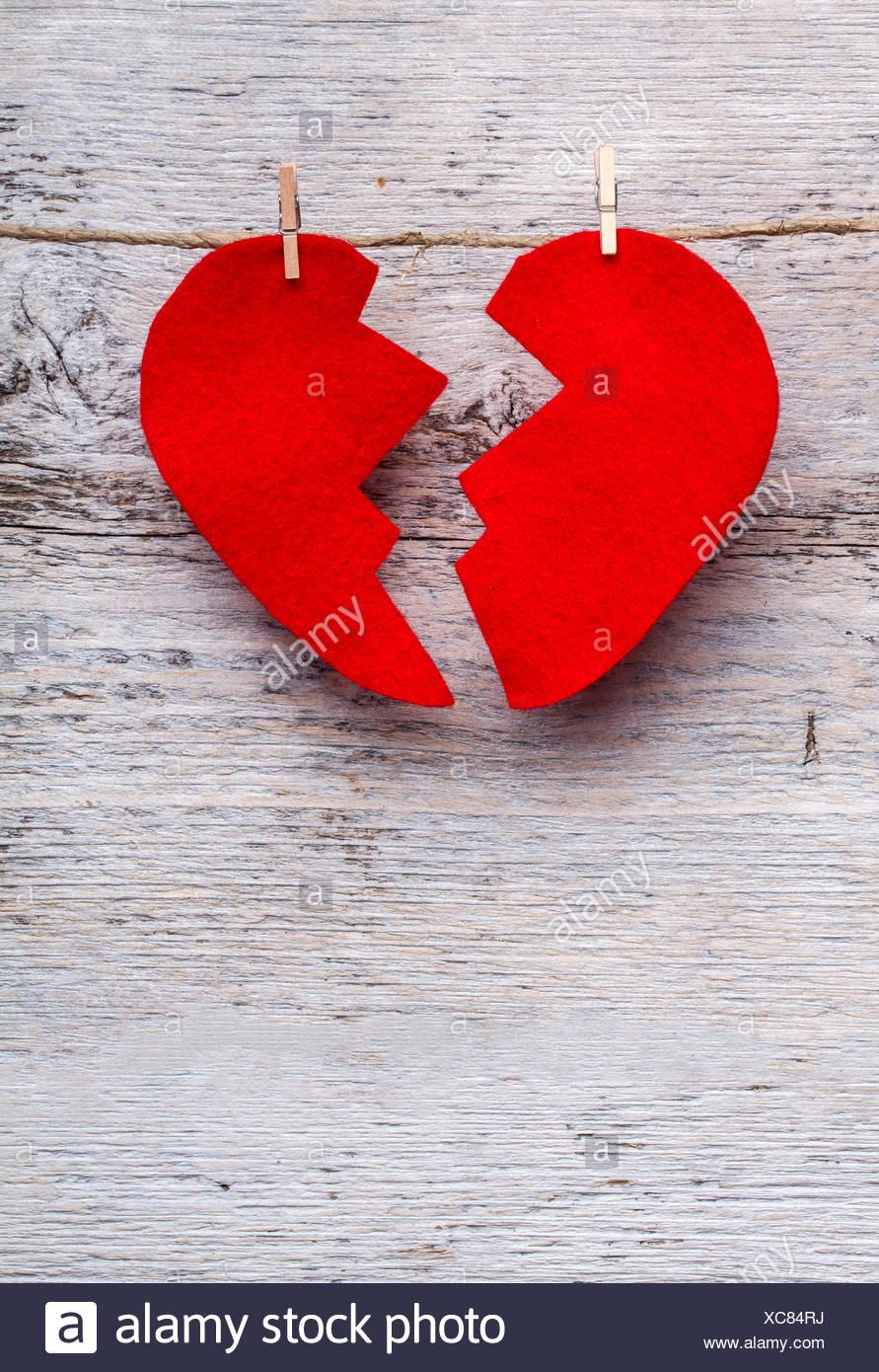 Gebrochenes Herz Stockbild