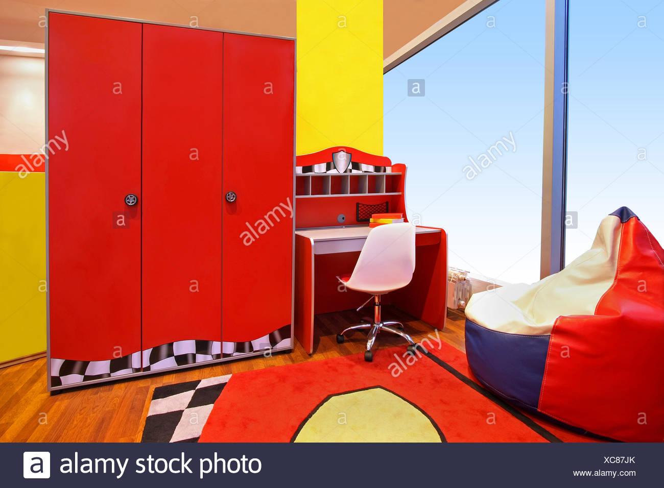Schreibtisch im Inneren Möbel Raum Inneneinrichtung Schlafzimmer ...