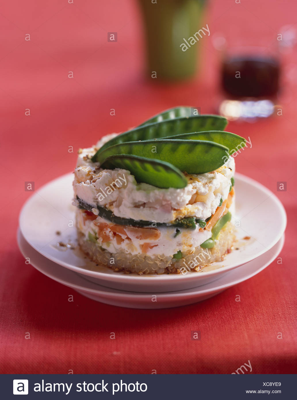 Quinoa Kuchen Mit Gemuse Stockfoto Bild 282938945 Alamy