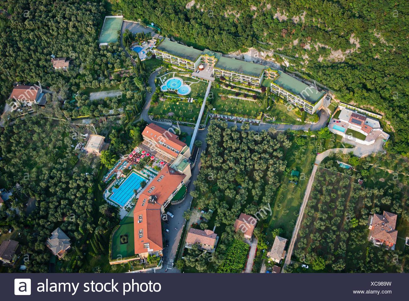 Hotel Majestic Palace Malcesine Gardasee Luftbild Veneto