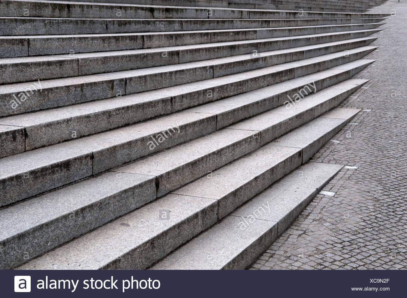 Treppe am Reichstagsufer Bank, Berlin Stockbild