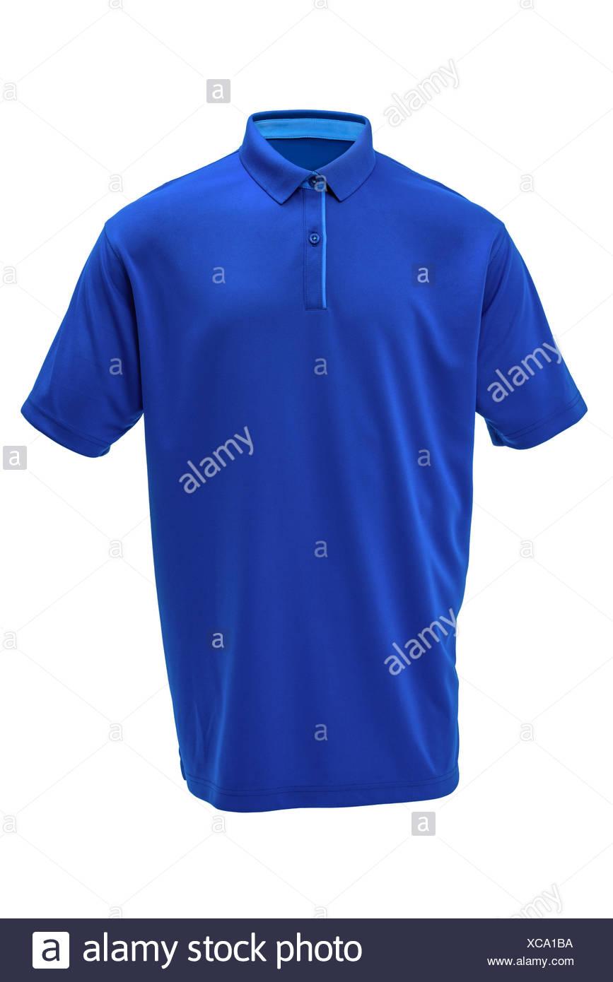 Golf Blue T Shirt Mit Hellblauem Kragen Stockfoto Bild 282962382