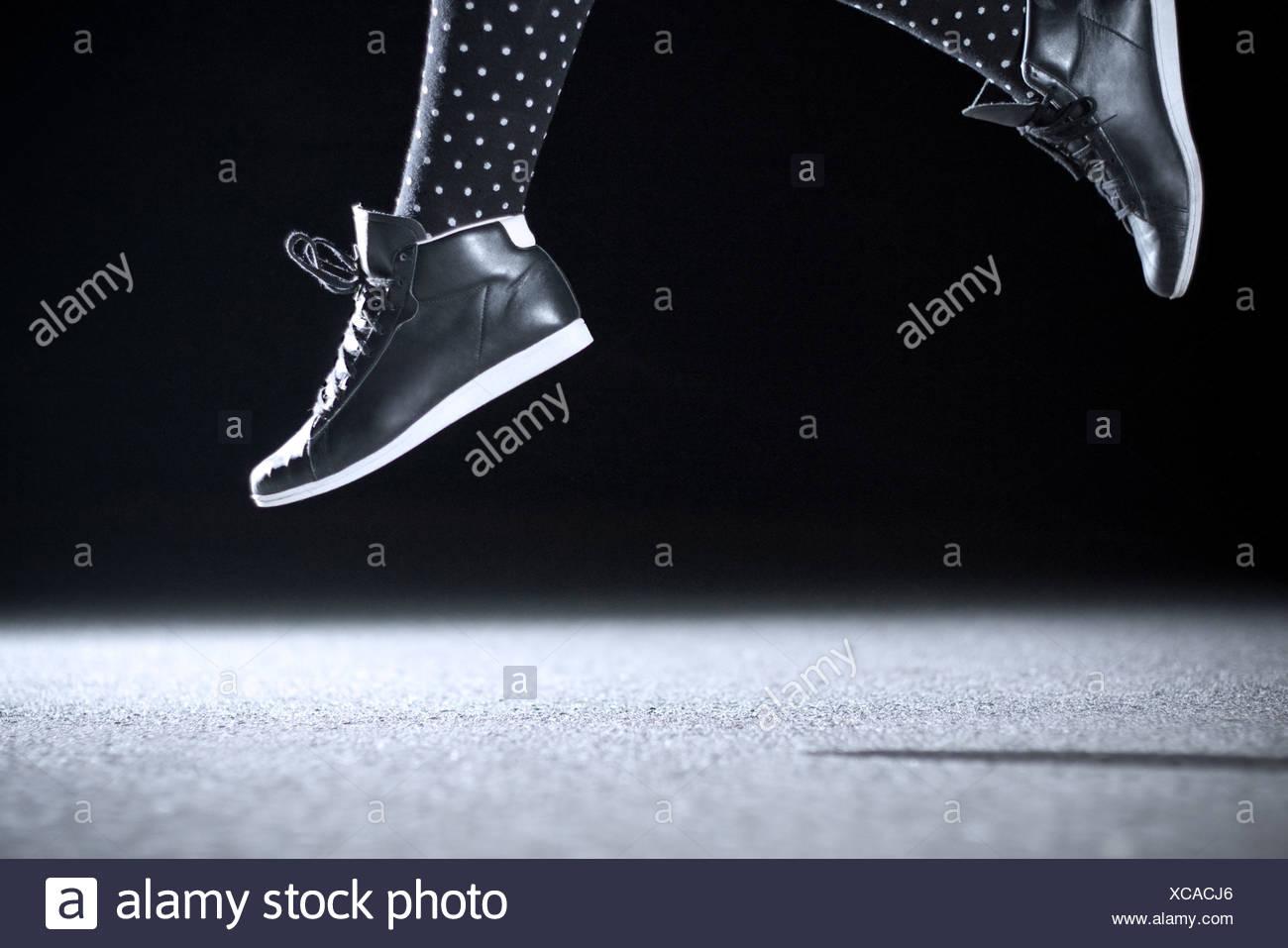 Sprung, Jugendkultur, springen, beschwingt Stockbild