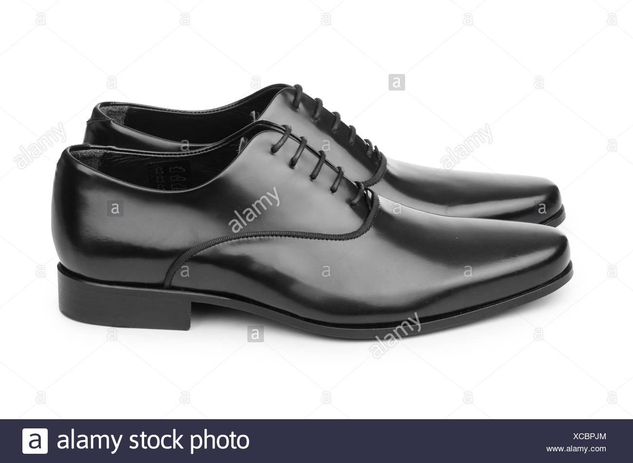 Männliche schwarze Schuhe, isoliert auf weiss Stockfoto, Bild ... c4b34a09c2