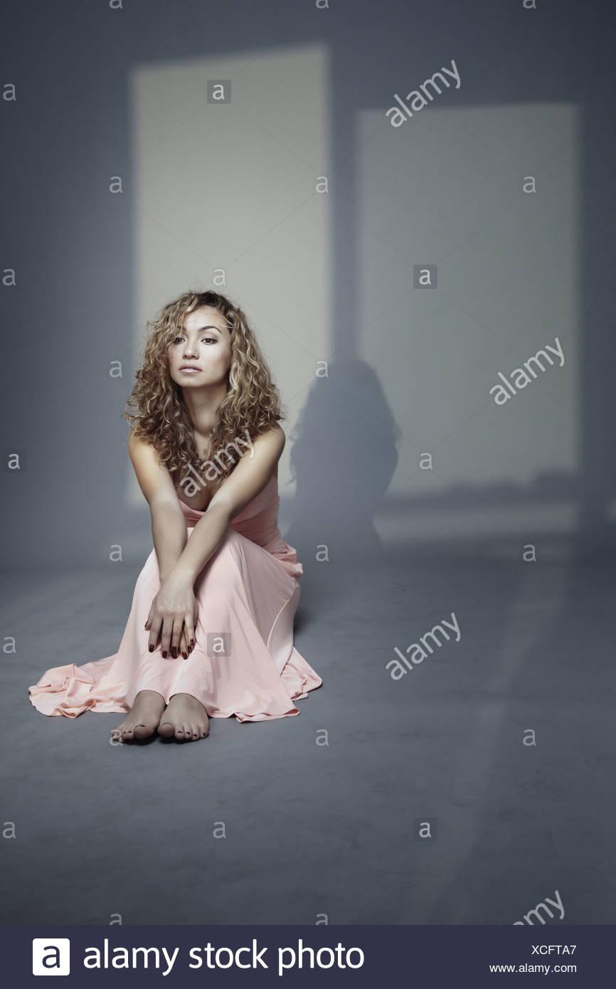 Sprechen Sie mit Schatten Stockbild