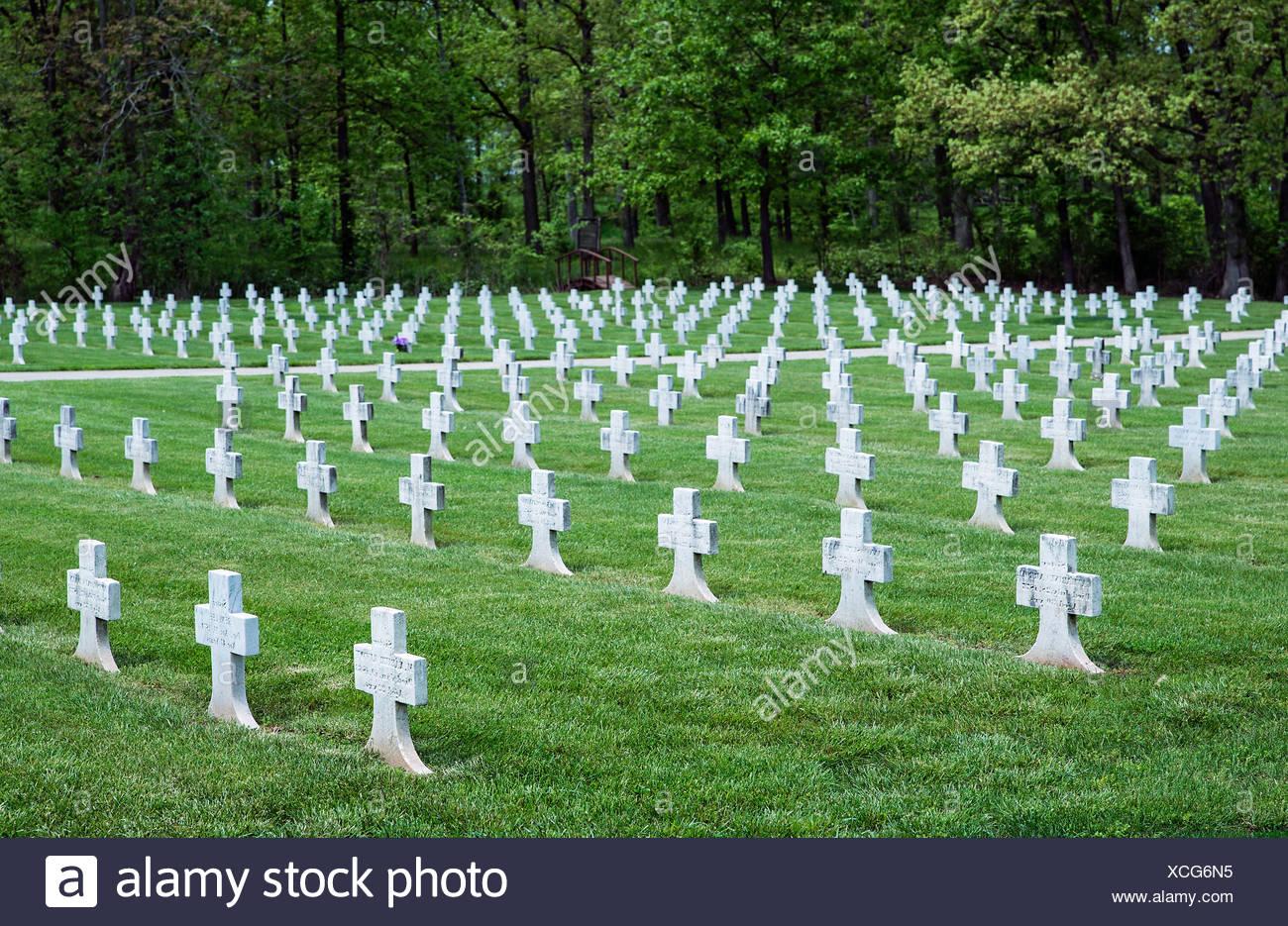 Friedhof für die Ordensgemeinschaft der Vinzentinerinnen von Nonnen, Elizabeth Seton Nationalheiligtum, Emmitsburg, Maryland, USA Stockbild