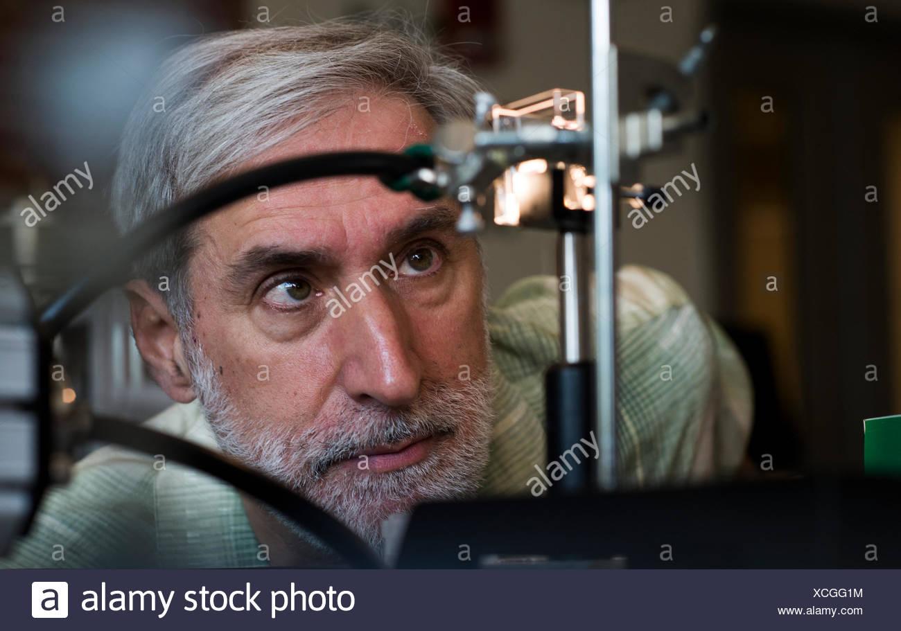Dr. Daniel Nocera, Professor an der Harvard University und Innovator im Bereich erneuerbare Energien. Stockbild