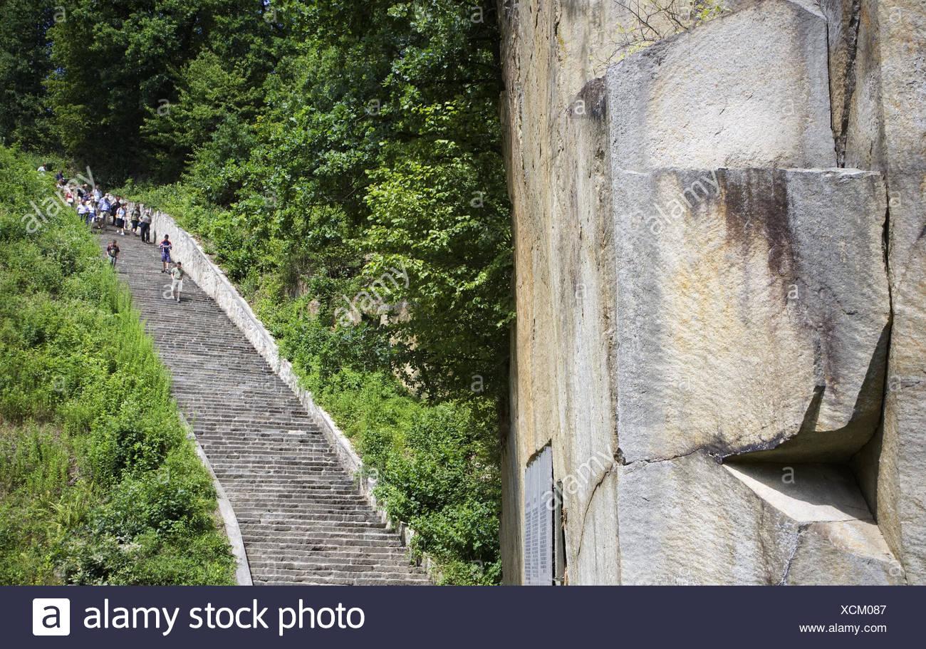 österreich Mauthausen Kz Gedenkstätte Treppen Schmale Treppe Tod