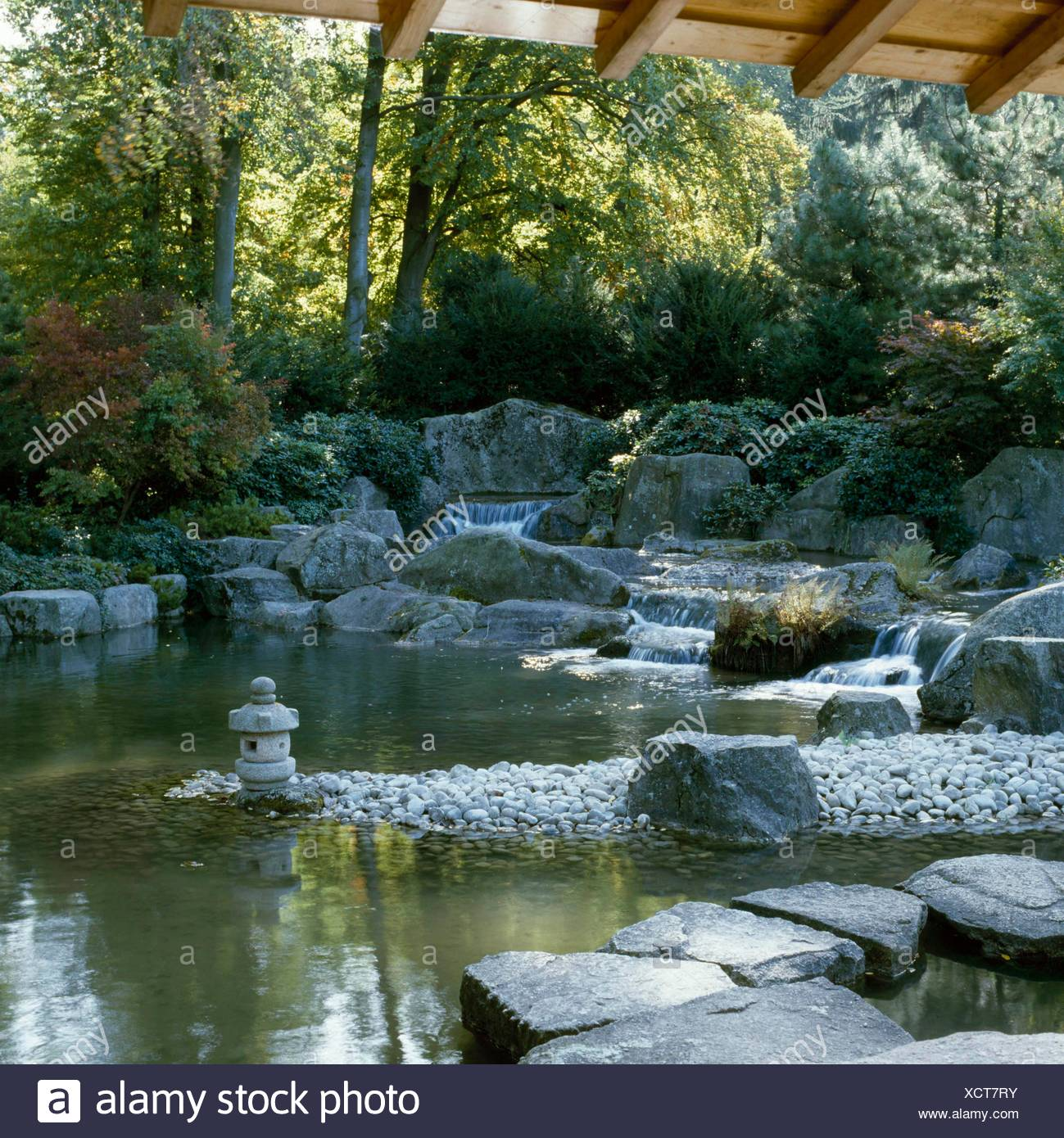 Japanischer Garten Bei Augsburg Bg Jag047650 Stockfoto Bild