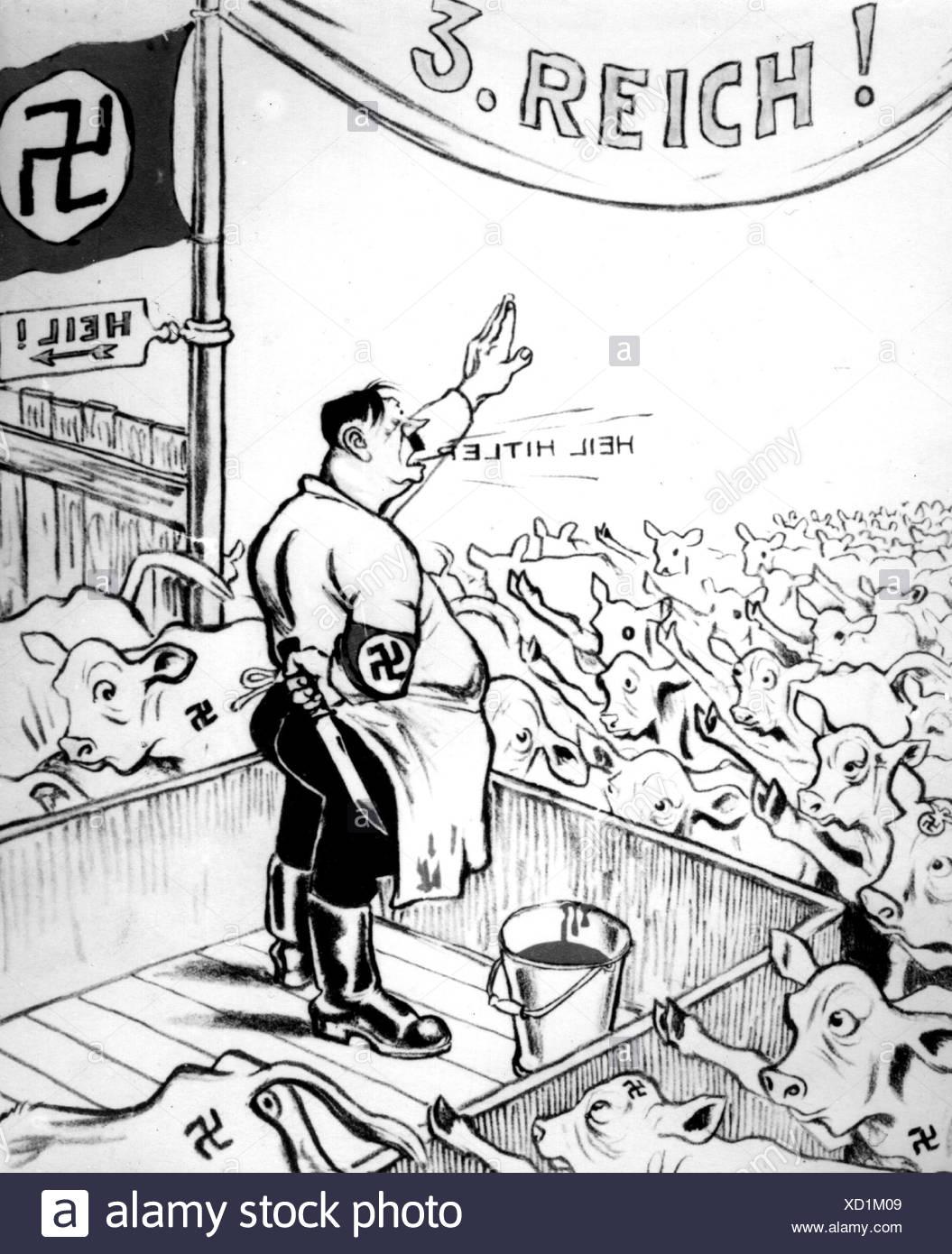 Adolf Hitler Caricature Stockfotos & Adolf Hitler