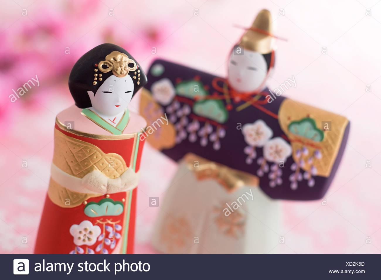 Japanische Hinamatsuri Puppe Stockbild