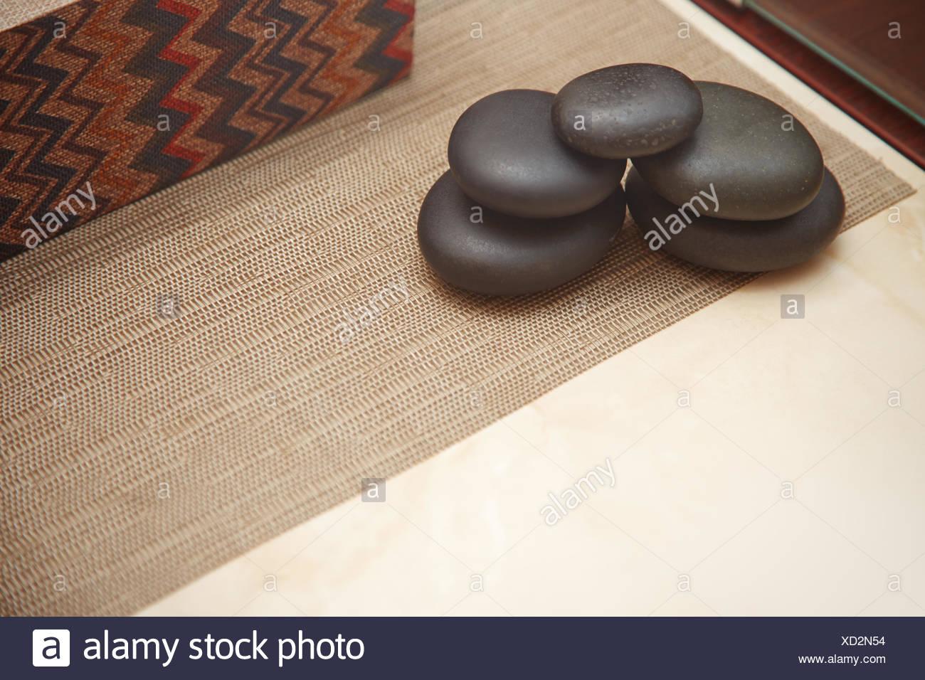 Steinen für Spa-Verfahren Stockbild