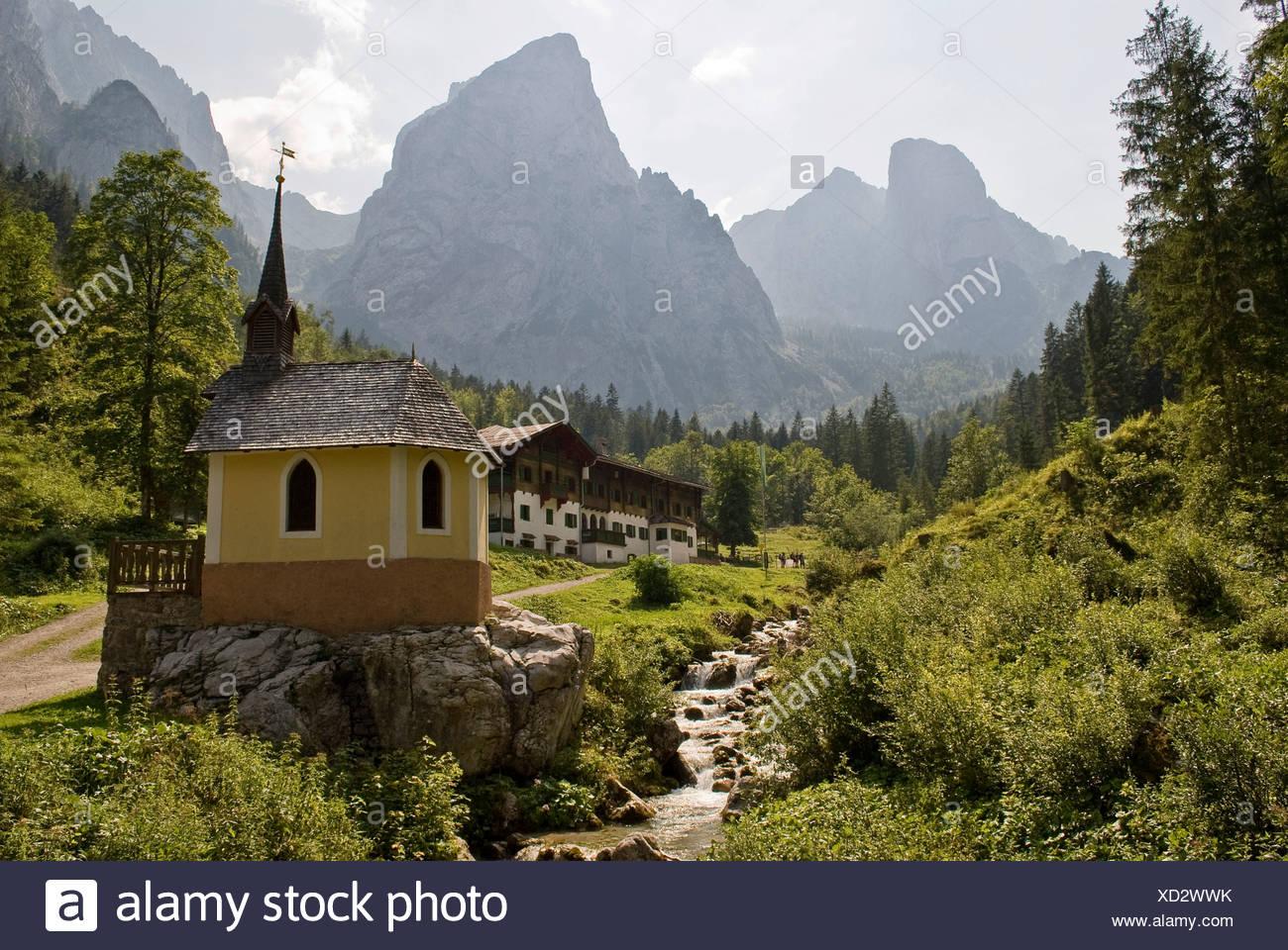 Kaisergebirge Berge, Kufstein, Österreich, Europa Stockbild