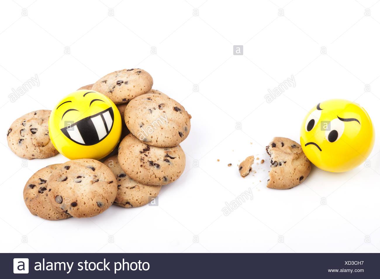 Viele Cookies Stockbild