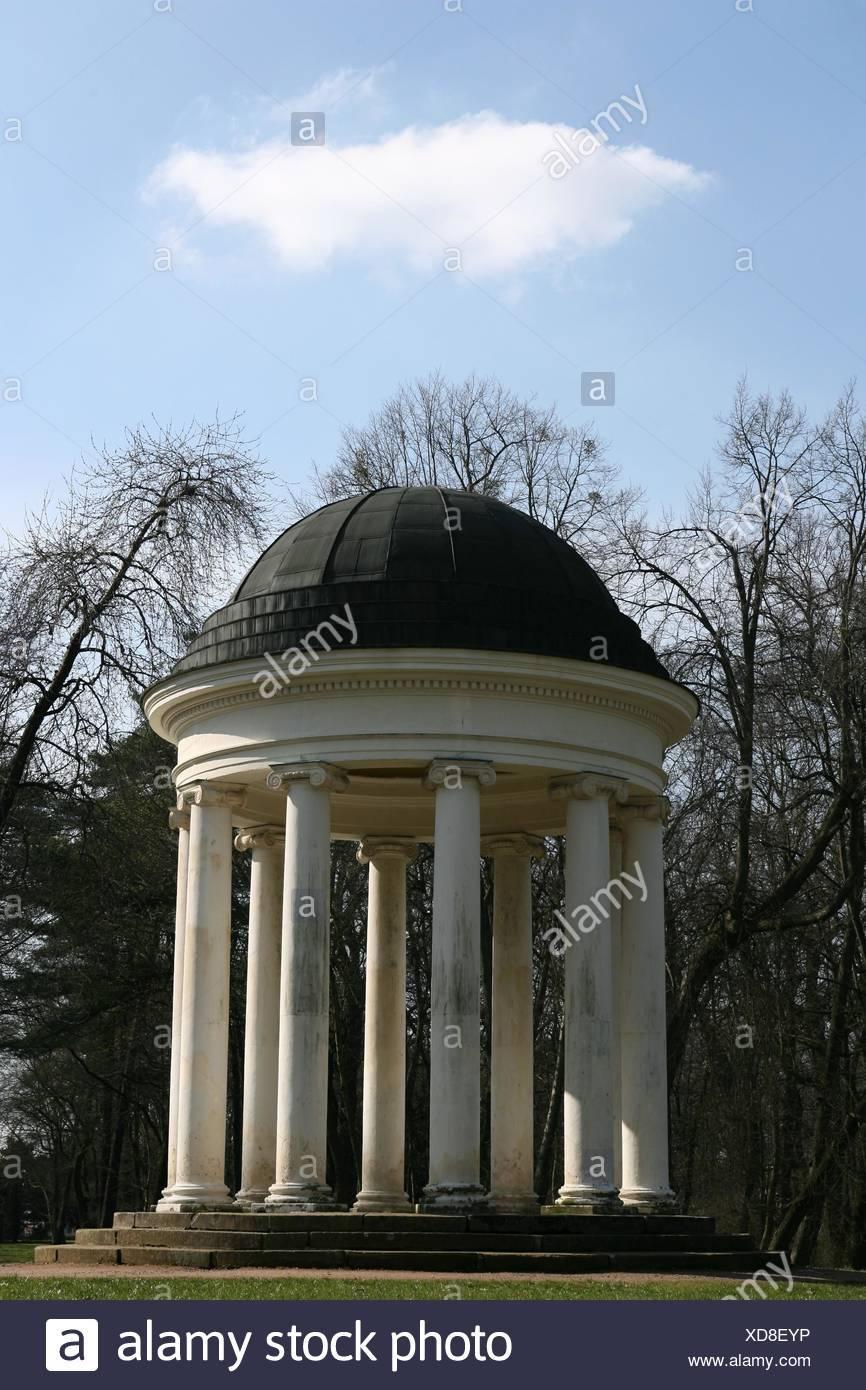 Tempel Wolke Aureole Firmament Himmel das Temple Tree Bäumen Parken Wolke aureole Stockbild