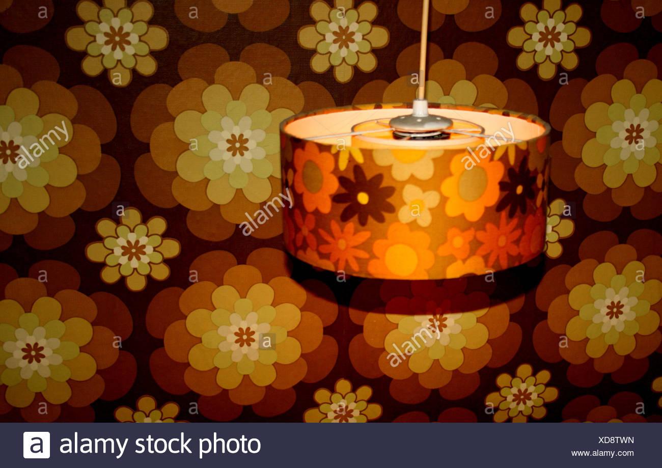 Retro, Lampe Stockbild