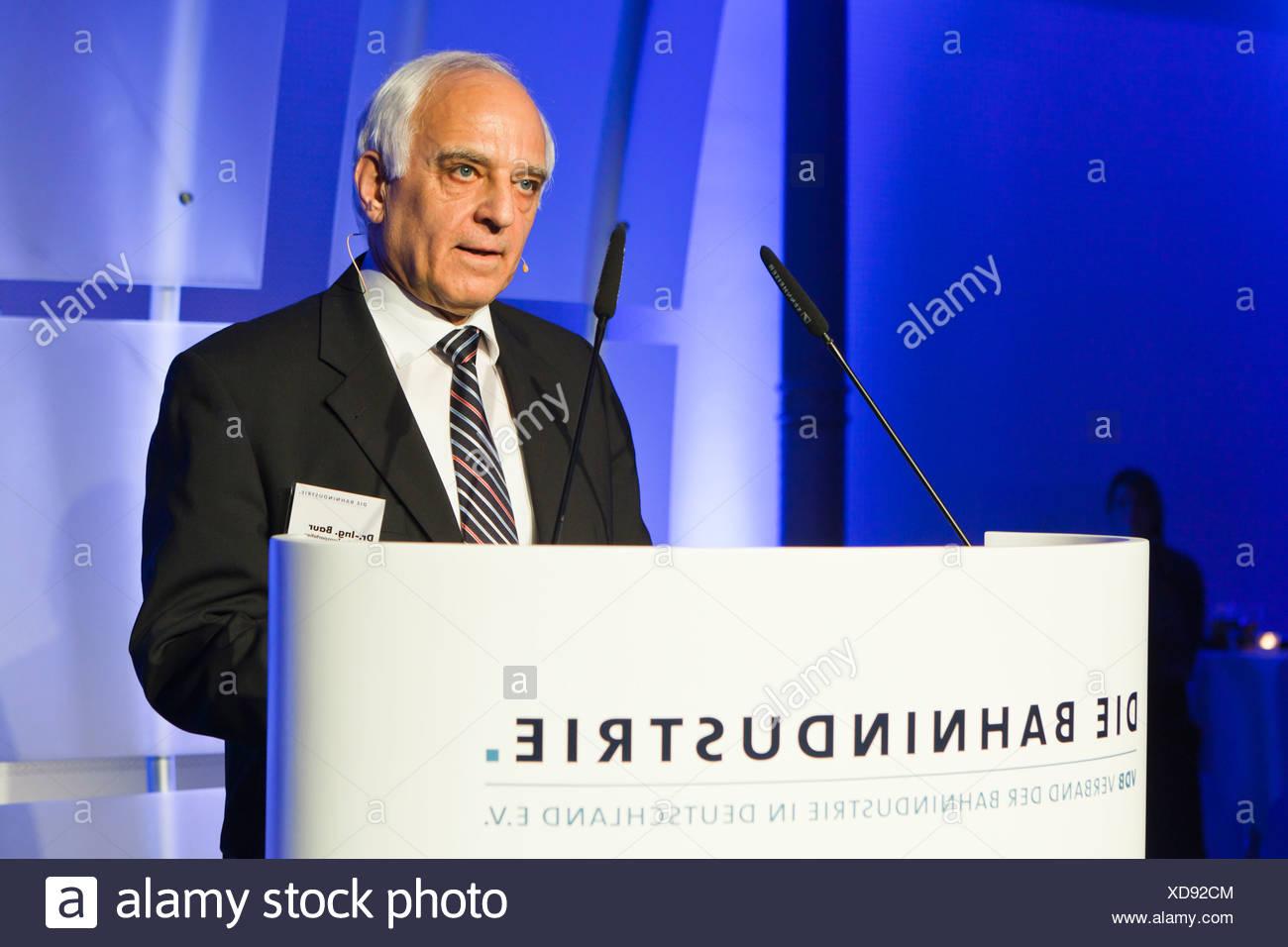 Dr. Klaus Baur, Präsident des VDB, Verband der Bahnindustrie in Deutschland e.V., Verband der Eisenbahn, Berlin Stockbild