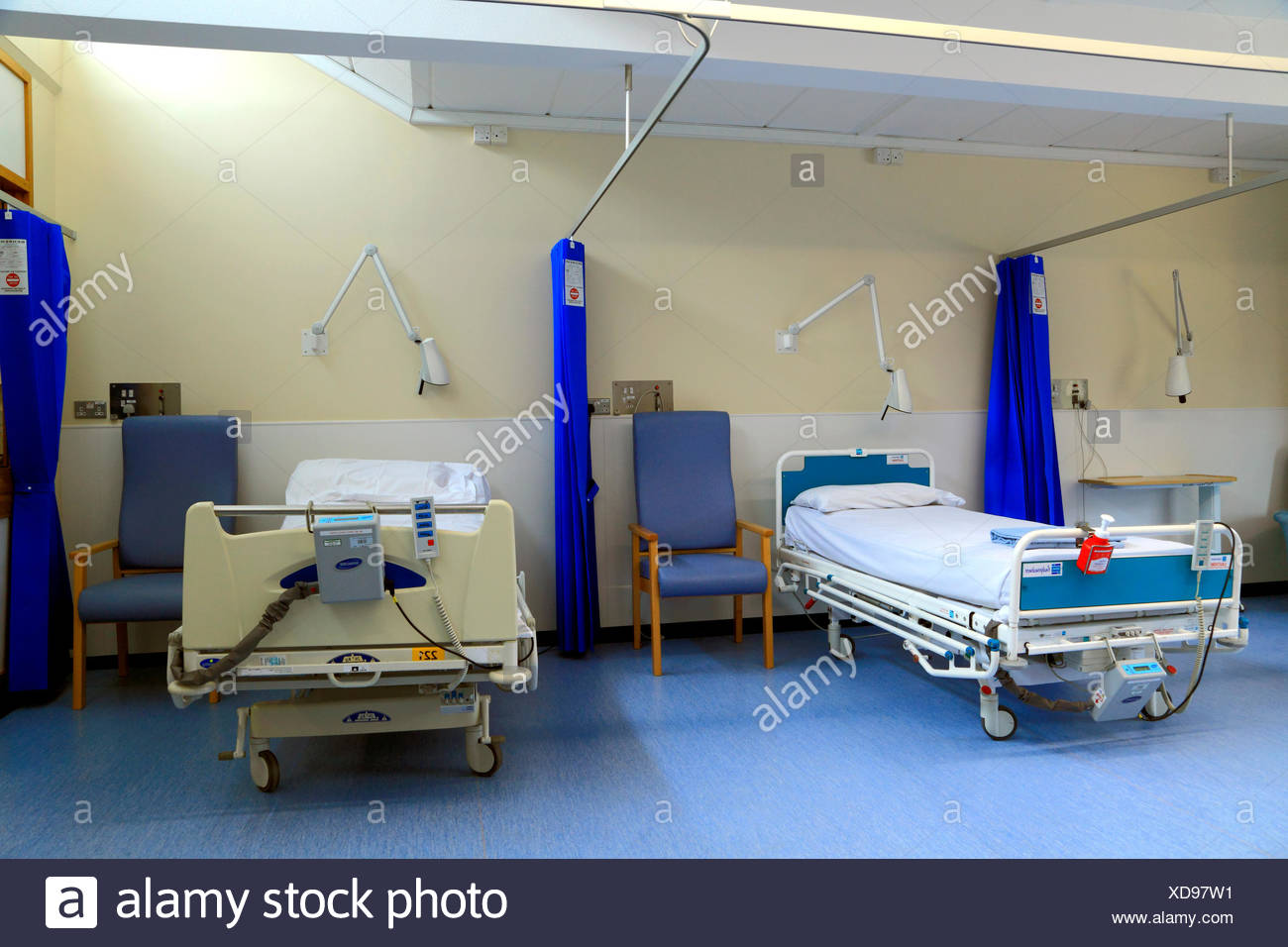 NHS, N.H.S. Krankenhaus, National Health Service, Queen Elizabeth Hospital, Kings Lynn, Norfolk, England, Großbritannien Stockbild
