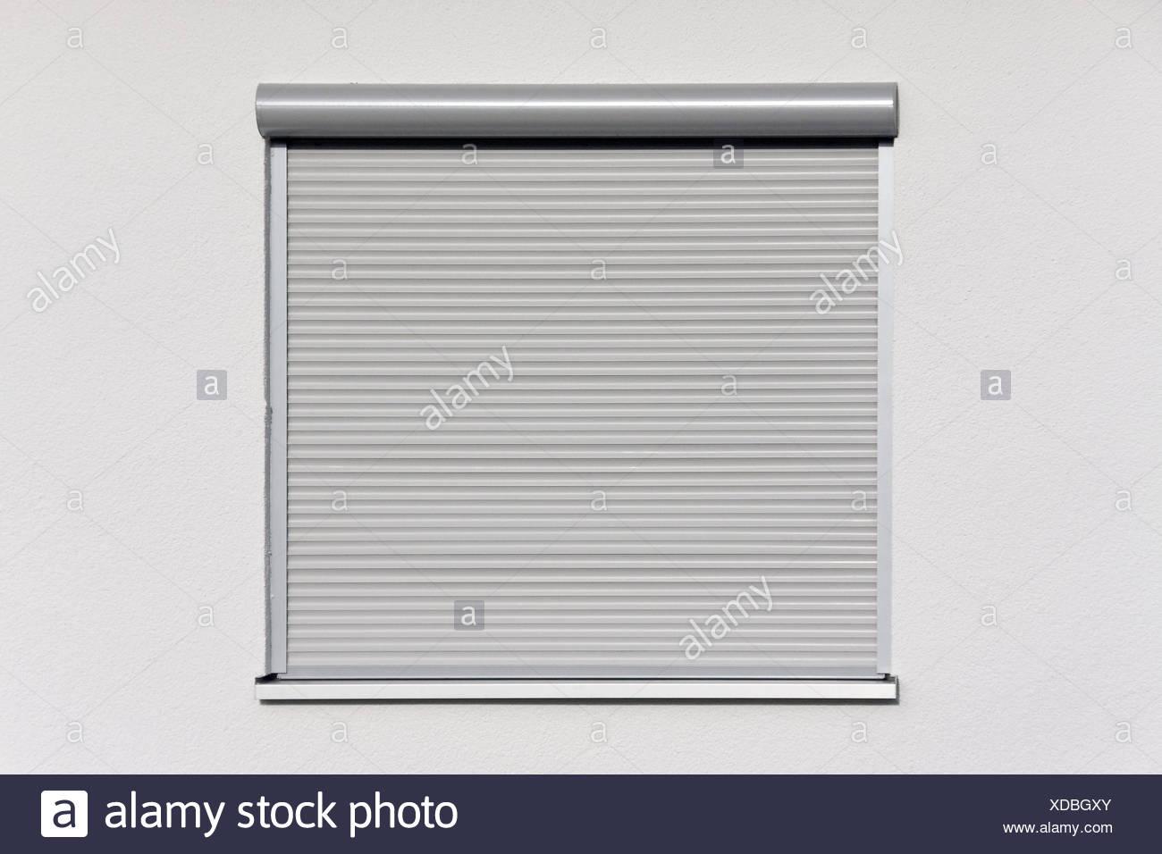 Wohnhaus Detail Fenster Rollladen Geschlossene Haus Fassade