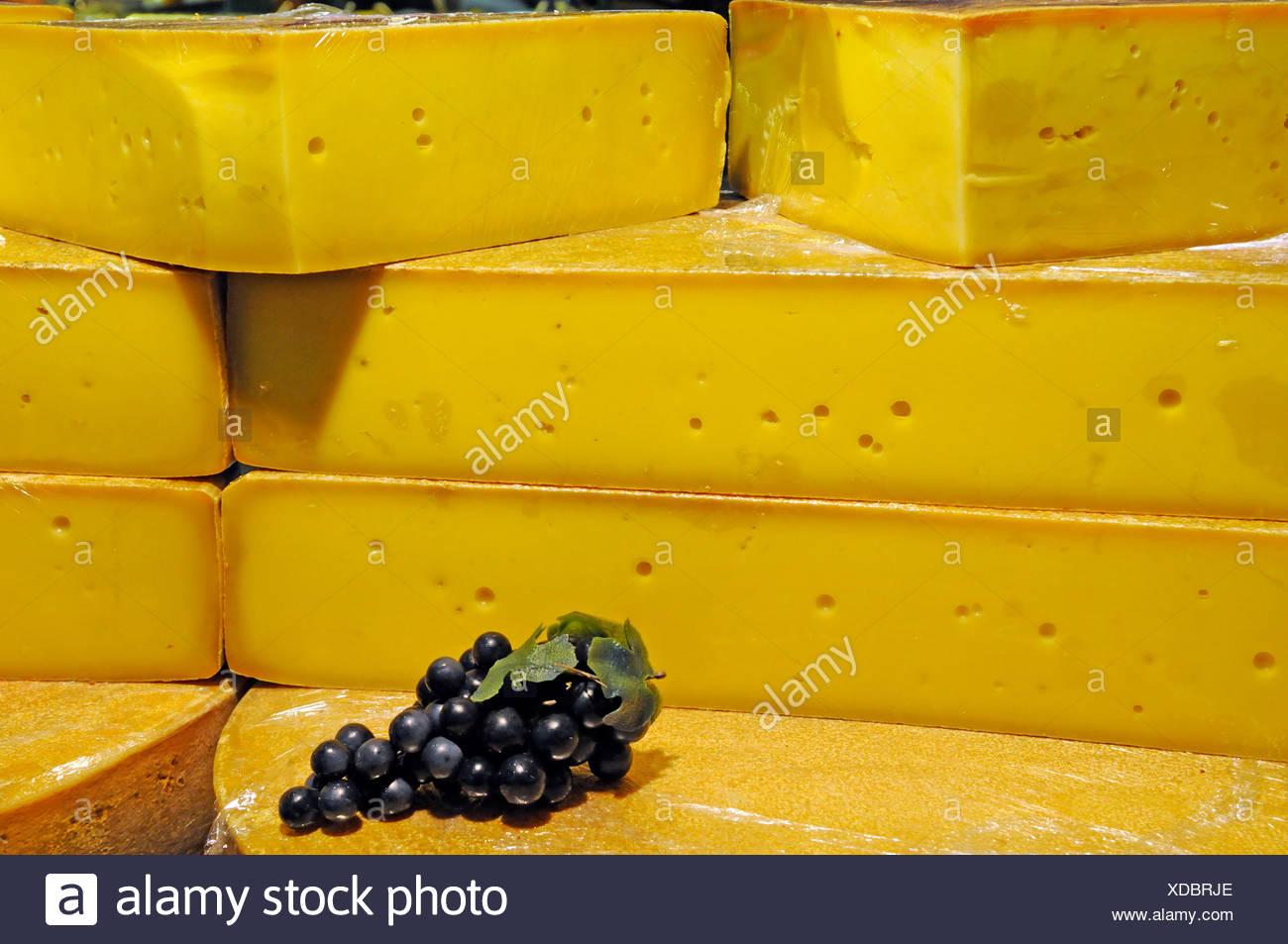 """Käse auf der Messe """"Gruene Woche"""" in Berlin Stockbild"""