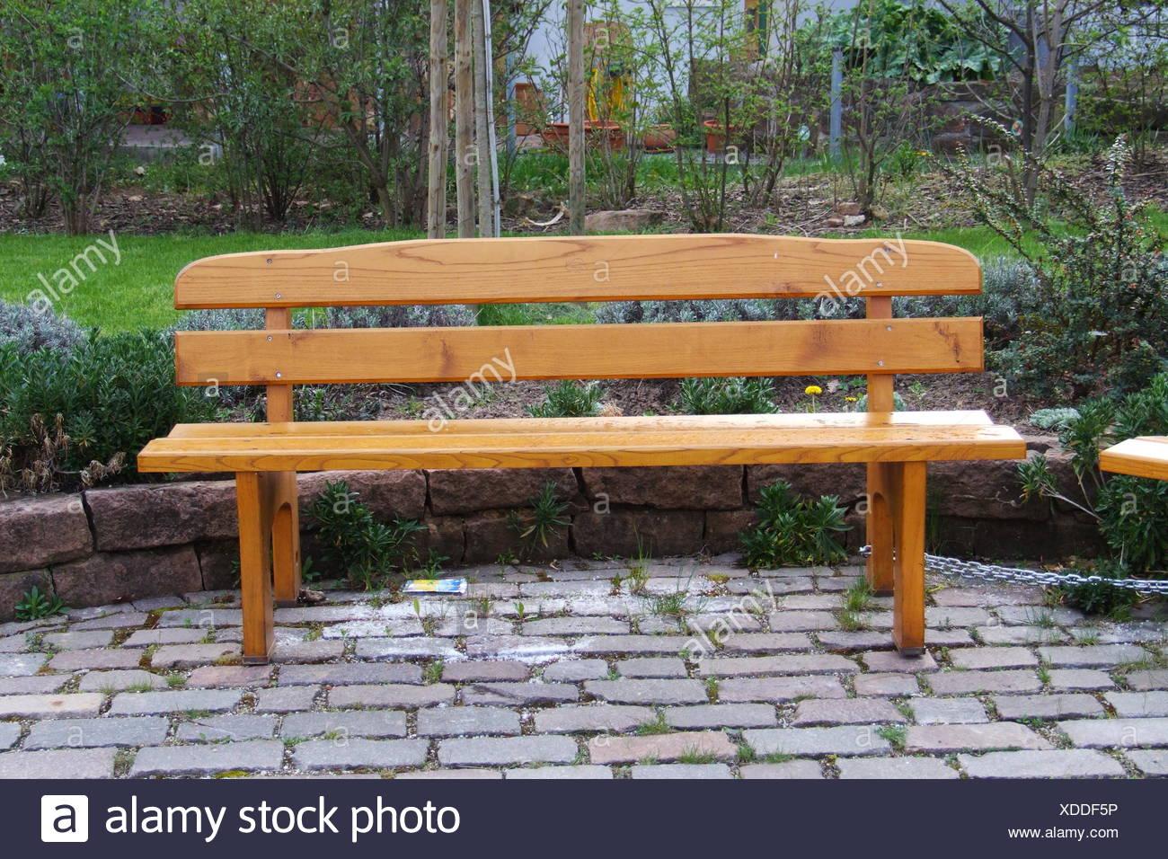 Garten Holz Leere Leere Sitzbänke Beige Garten Bank Holzbank Leer