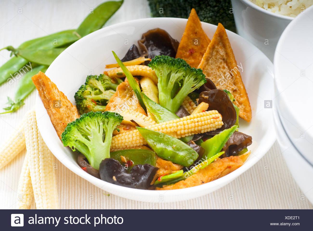 Bohnen Bambus Erbsen Brokkoli Essen Nahrungsmittel Pfeffer Grun