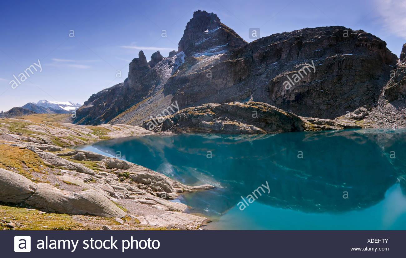 Alpen der Schweiz Bergsee Stockbild