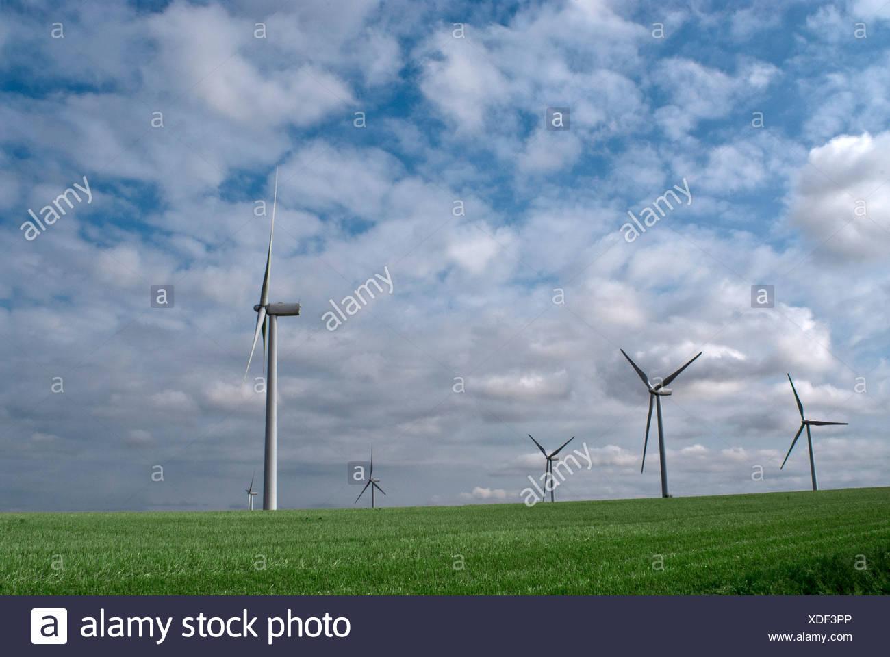 Wind Farm Landschaft Stockbild