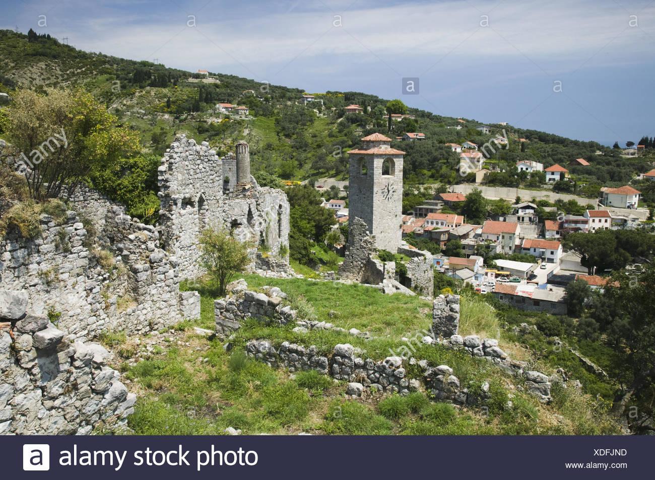 Montenegro, Bar, Altstadt, Stari Bar, Grenzanlagen, Widerstandsmuseum, 800 Glockenbecherkultur., Stockbild
