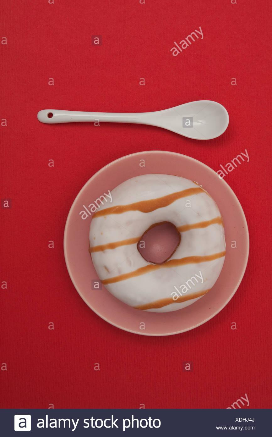 Gestreifte donut Stockbild