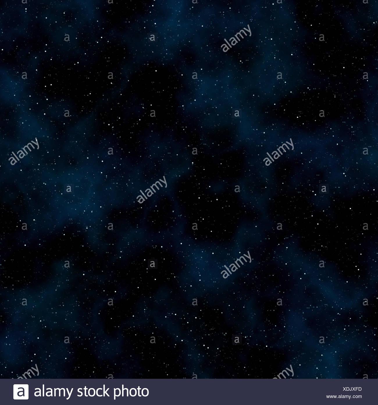Abstrakte Raum Hintergrund: Sterne und Nebel Stockbild
